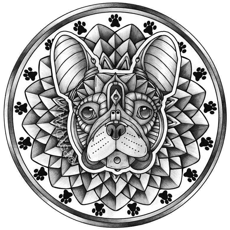 French Bulldog Mandala