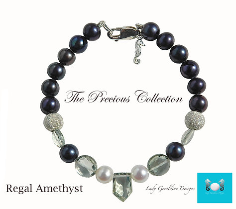 Regal Amethyst Bracelet