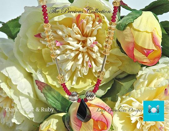 Dark Heart & Ruby Necklace