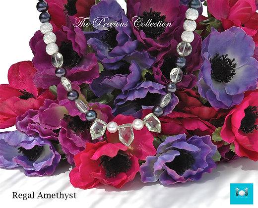 Regal Amethyst Necklace