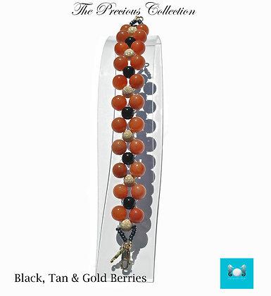 Black & Tan Berries Bracelet
