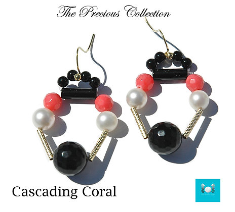 Cascading Coral Earrings