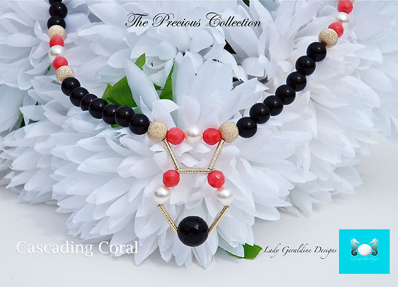 Cascading Coral Necklace
