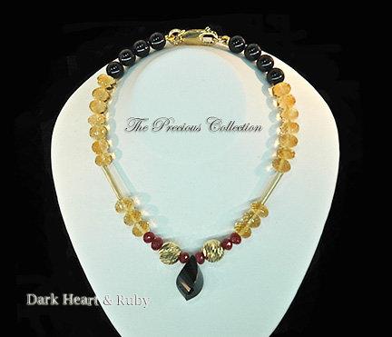 Dark Heart & Ruby Bracelet