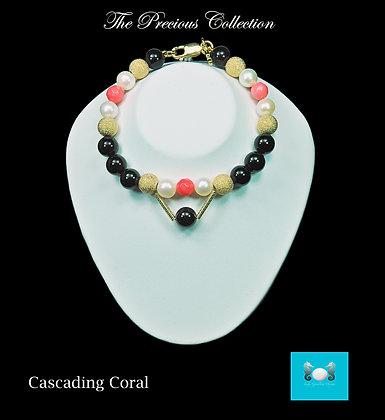 Cascading Coral Bracelet