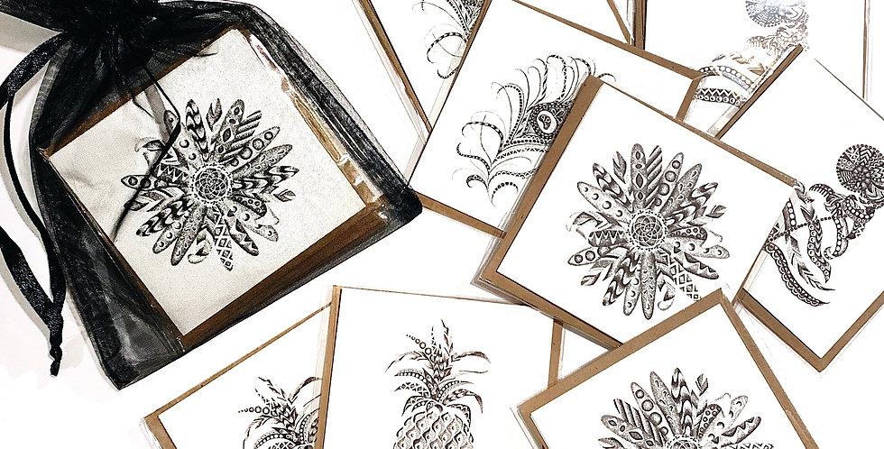Botanicals and Plume Set