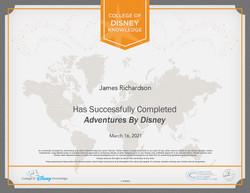 Adventures by disney Certification