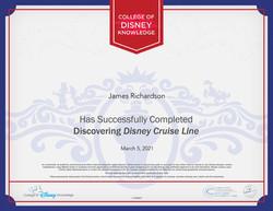 Disney Cruise Certification