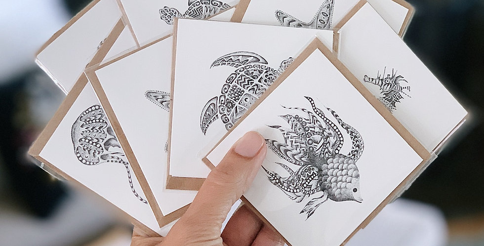 Marine Life Set -  8 cards