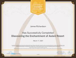 Aulani Resort Disney Certification