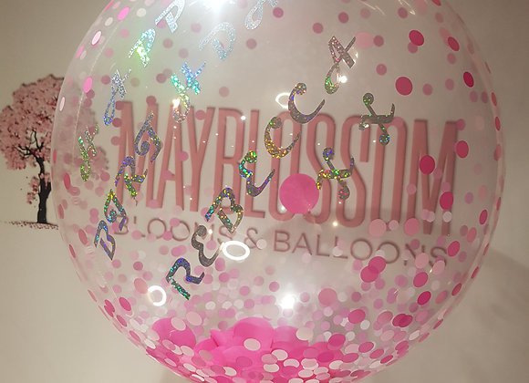 PERSONALISED BUBBLE/FOIL BALLOONS