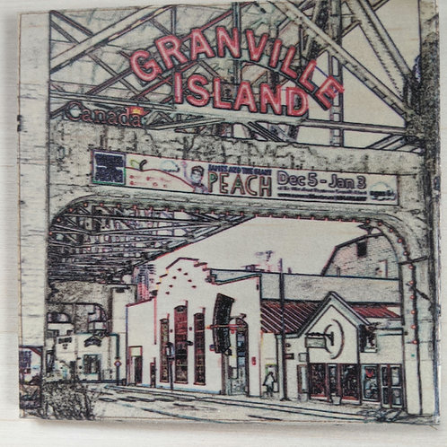 Granville Island-Impressions-Wooden Art Coaster