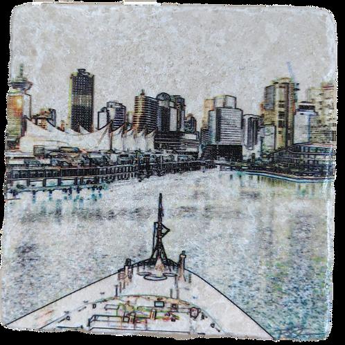 Five Sails-Marble Coaster Impressions