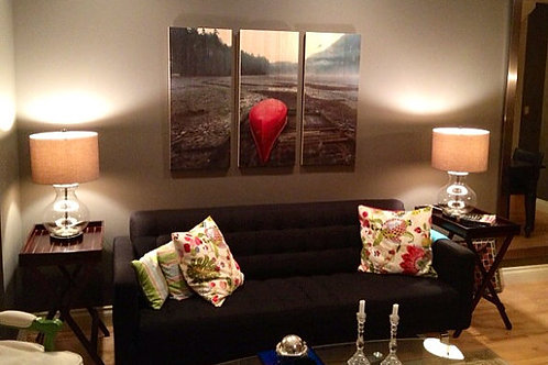 Pine Art Photo Panels - Red Canoe - Custom Images too!  Printed Photo on Wood