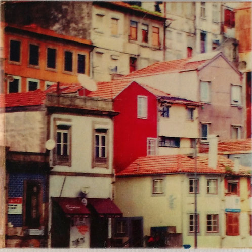 Wooden Photo Art Coasters - Porto, Portugal Rusic Buildings - Photo Images printed on Marble and Wood