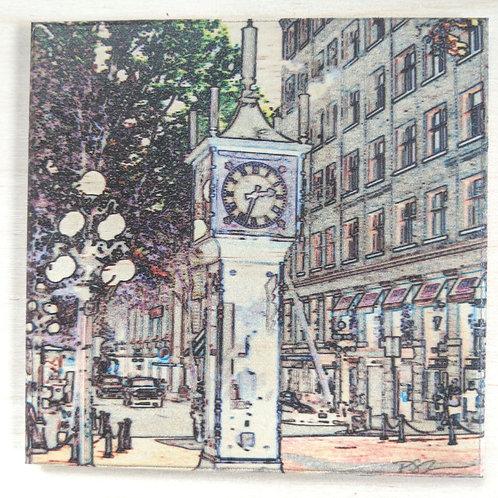 Steam Clock-Impressions-Wooden Art Coaster
