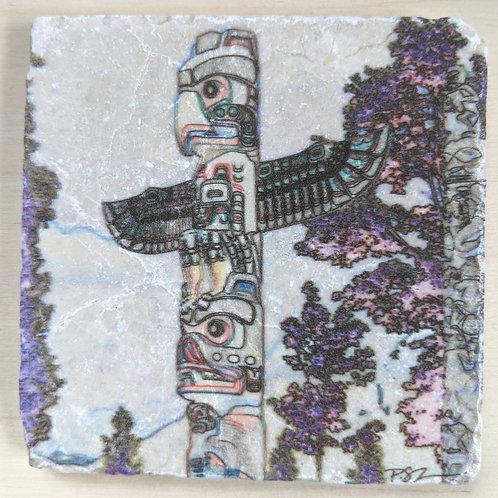 Totem-Marble Coaster Impressions