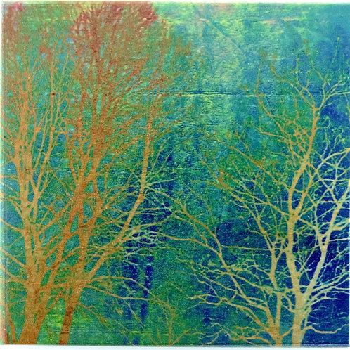 Wood Art Coaster with Photo Image - Enchanted Forest