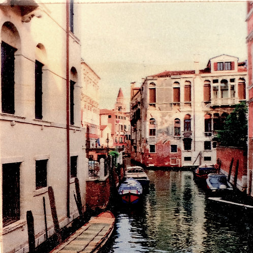 Wood Art Panel - Venice Canal