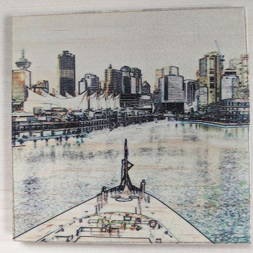 Five Sails-Impressions-Wooden Art Coaster
