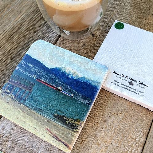 Jericho Beach-Marble Coaster