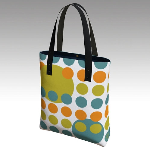 Tote bag with Mid-century Modern Inspired Design