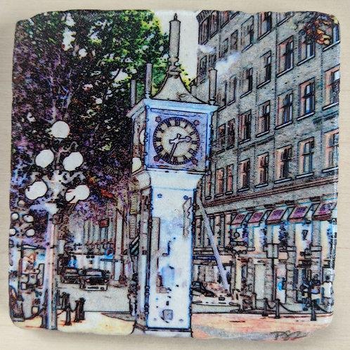 Steam Clock-Marble Coaster Impressions