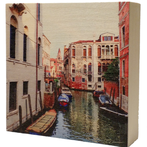Wood Art Photo Block - Natural Surface - Venice