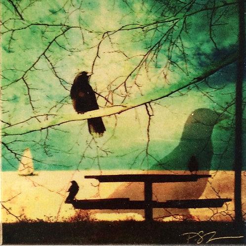 Wood Art Panel - Creative Crow