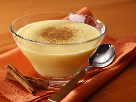 Curau com leite de coco