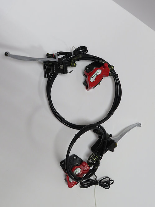 FRONT AND REAR HYDRAULIC BRAKES