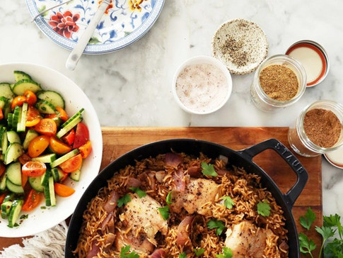 Baharat (Lebanese 7 Spice) Chicken and Rice