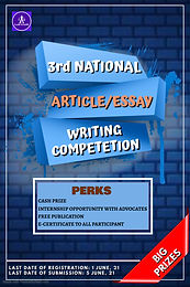 3RD NATIONAL ARTICLE / ESSAY WRITING COMPETITION