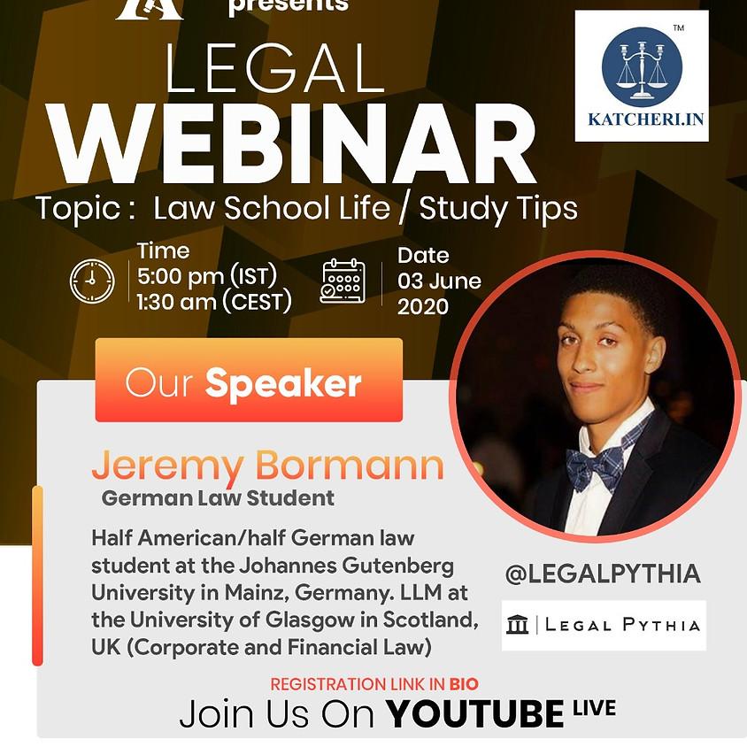 Topic: Law School Life / Quarantine Diaries / Study Tips