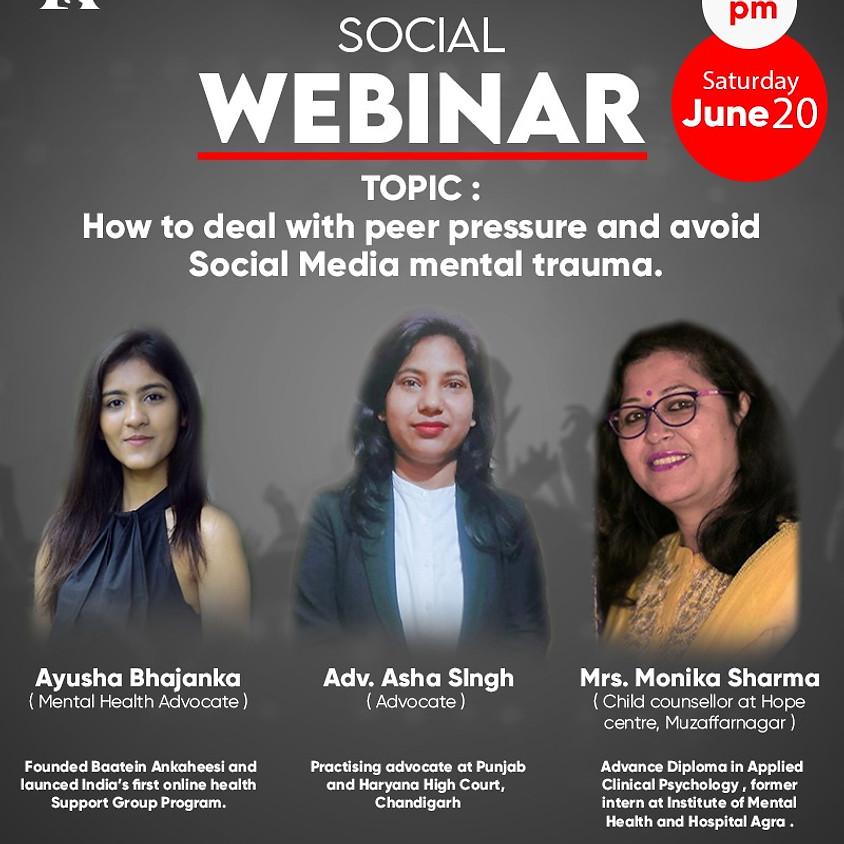 Webinar on MENTAL HEALTH AWARENESS /SOCIAL TRAUMA