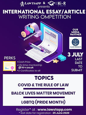 INTERNATIONAL ARTICLE/ ESSAY WRITING COMPETITION