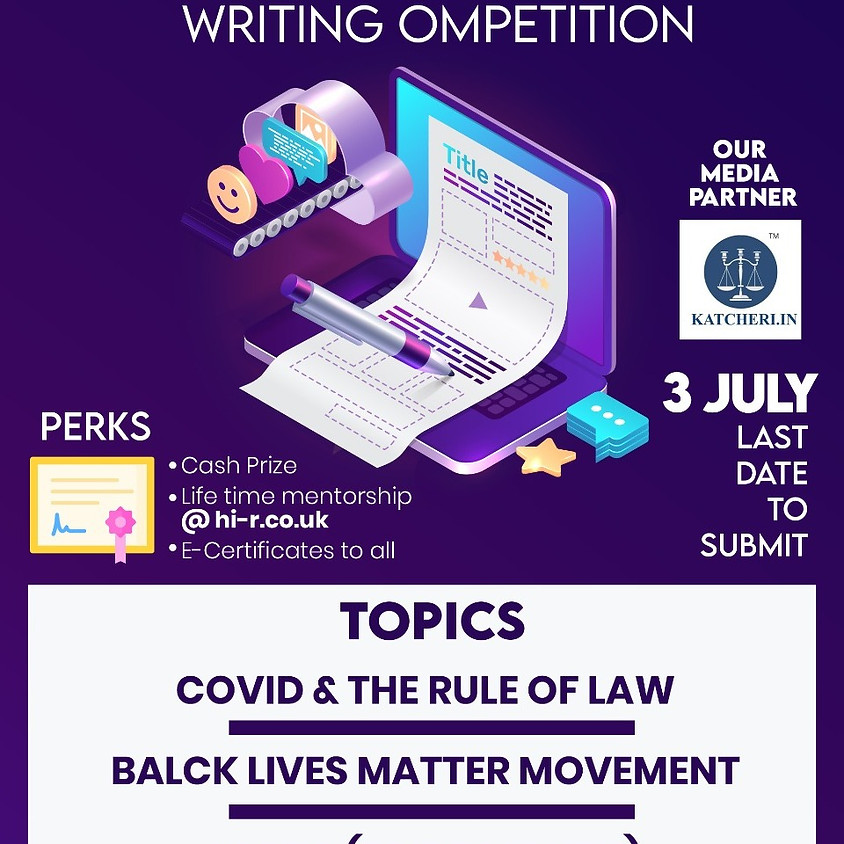 INTERNATIONAL Essay/Article  WRITING COMPETITION BY Lawtsapp.Com & Hi-R Education: SUBMISSIONS NOW OPEN