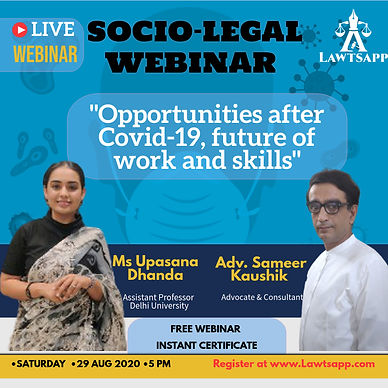 """Free Webinar on Opportunities after COVID 19, future of work and skills"""""""