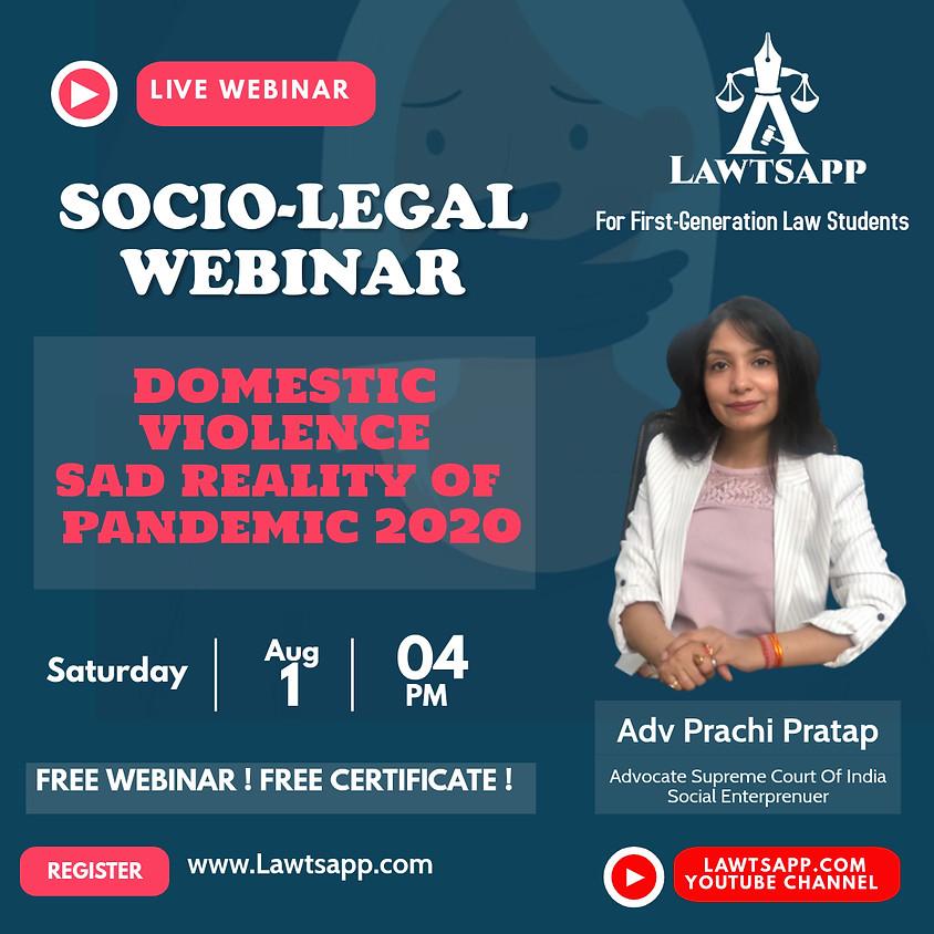 FREE webinar on Domestic violence ,sad reality of pandemic 2020