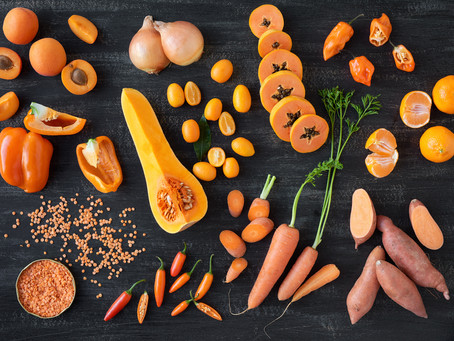 For radiant skin, eat fruits and vegetables rich in beta-carotene