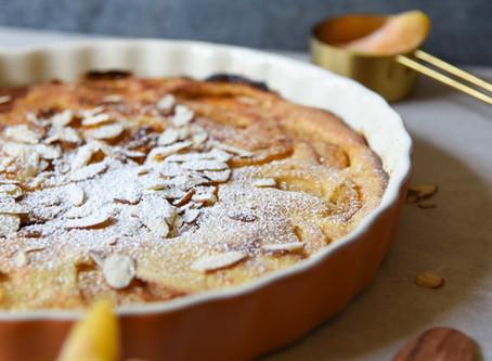 Skin Saving Sweets: Peach Almond Custard Tart