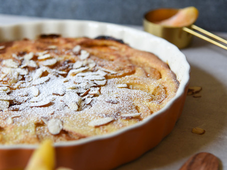 Skin Saving Sweets: Peach Almond Custard Tart