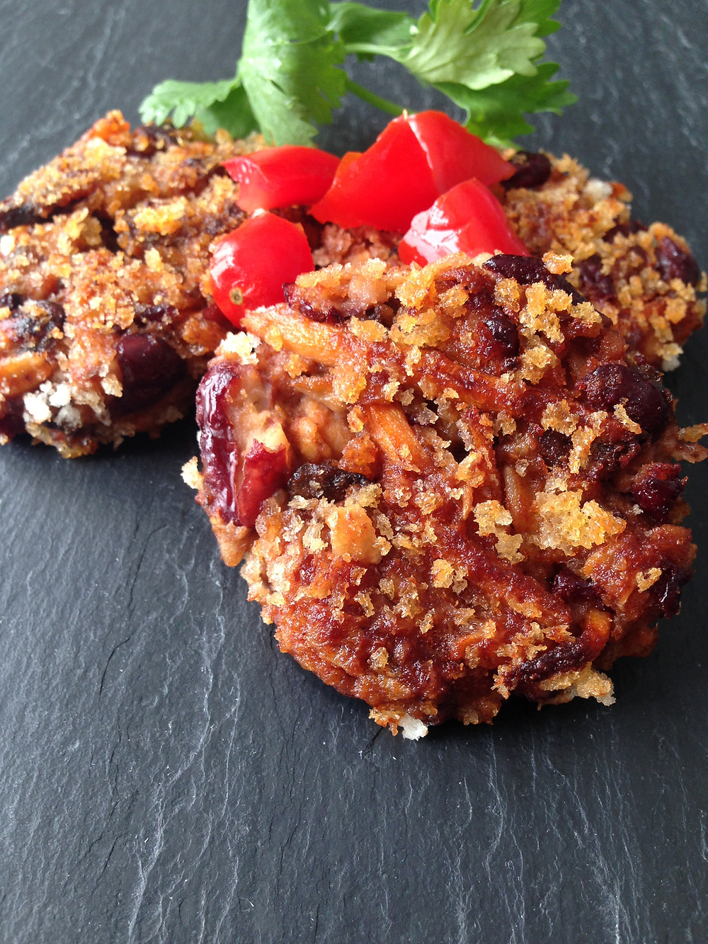 Red bean mushroom fritters - a great source of fiber and zinc