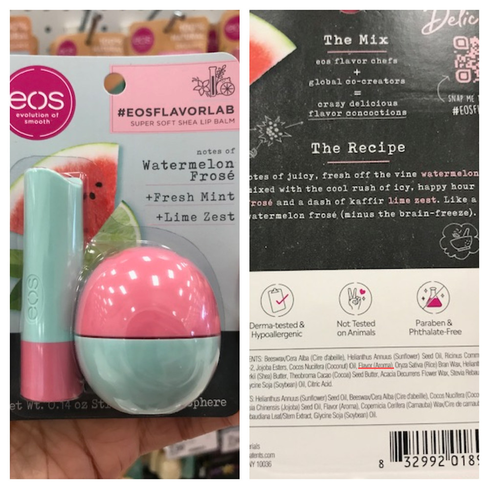 EOS Evolution of Smooth Watermelon Frose Fresh Mint Lime Zest Lip Balm