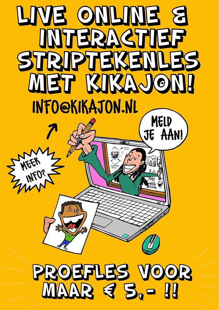 """Online """"live"""" Striptekenen voor Kinderen"""