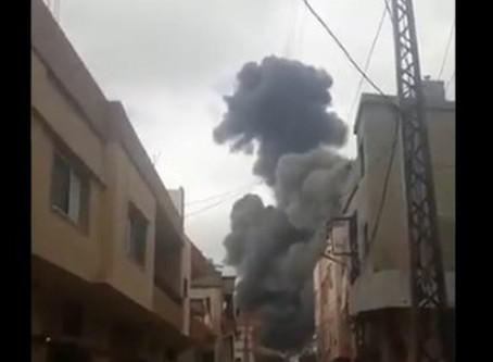 Reportan fuerte explosión en edificio del Hezbolá, en el sur del Líbano