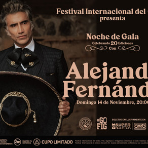 Noche de Gala en el FIG León, el día domingo 14 de noviembre con Alejandro Fernández
