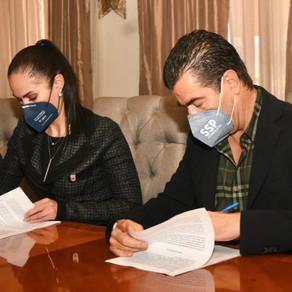 La Secretaría de Seguridad Pública del Estado y el Gobierno Municipal de León firman convenios