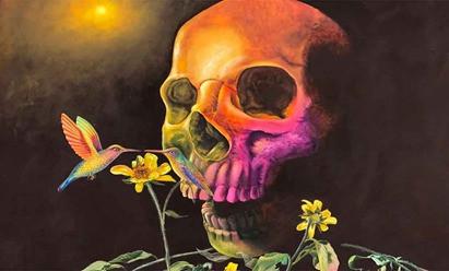 Con exposición, pintor chocholteco hace frente a la pandemia