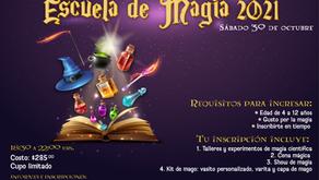 Escuela de Magia que se llevará a cabo el sábado 30 de octubre en el Centro de Ciencias Explora